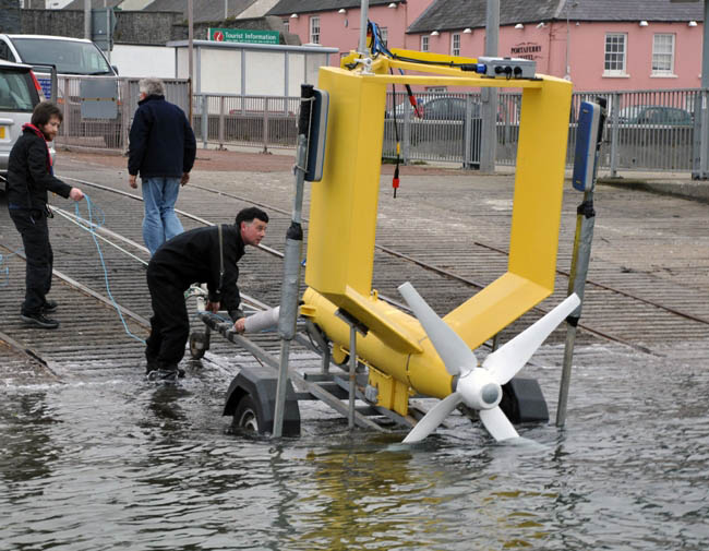 March 2011 - Tidal Energy device Evopod being installed from Portaferry